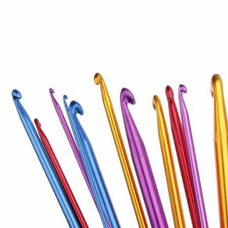 Набор крючков для тунисского вязания 11 шт