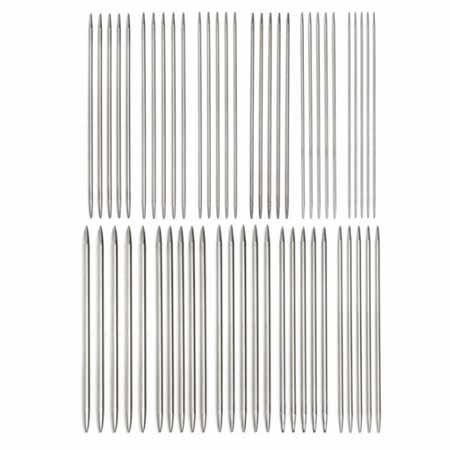 Спицы для вязания металлические 5-ти комплектные 11 комплектов