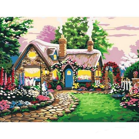 Алмазная вышивка (мозаика) Дом